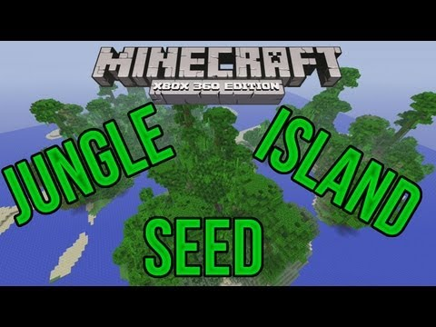 Minecraft Xbox 360: Perfect Jungle Island Survival Seed Showcase!