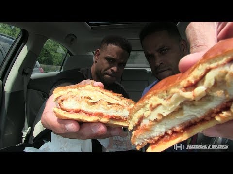 Eating Burger King Chicken Parmesan Sandwich @hodgetwins thumbnail