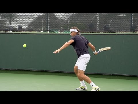 David Ferrer Forehand In Super Slow Motion 3 - Indian Wells 2013 - BNP Paribas Open