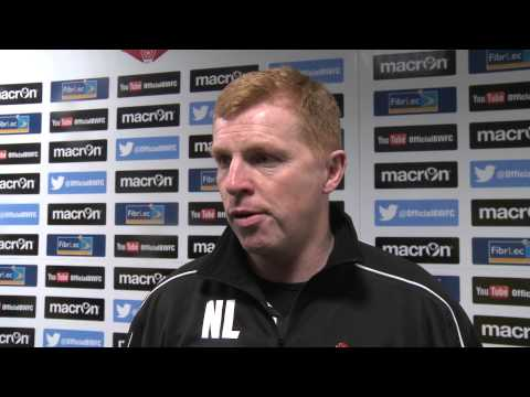 BOLTON v WIGAN | Neil Lennon's reaction on camera