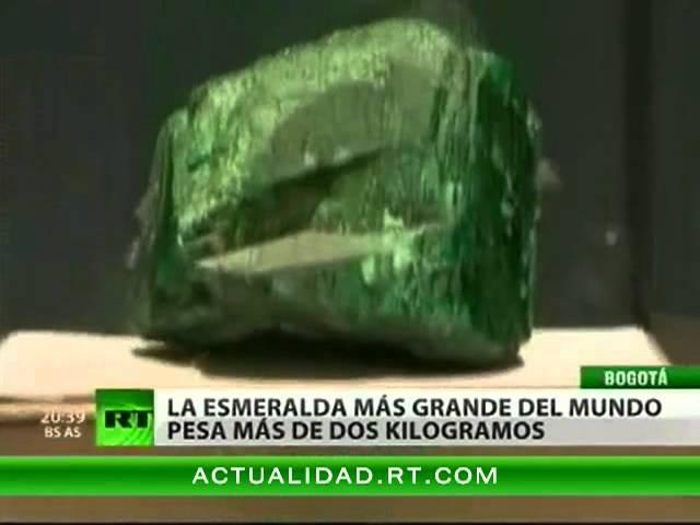 La esmeralda más grande del mundo se exhibe al público por primera vez