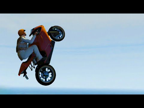 GTA 5 Funny Moments - Extreme Bike Stunting Parkour (GTA V Online Stunts)