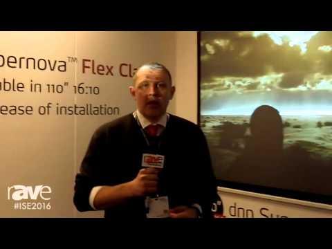 ISE 2016: dnp Exhibits Supernova Flex Classic Motorized Screen