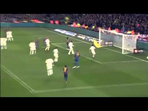 FCBarcelona vs Real Madrid (25/1/12) - Dani Alves's Goal