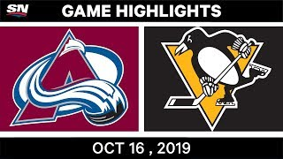 NHL Highlights  Avalanche vs Penguins в Oct 16 2019
