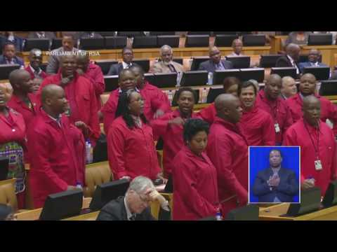 Brawl breaks out in South African Parliament during Zuma Q&A