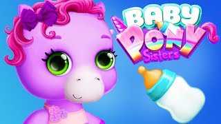 Fun Horse Care Games - Baby Pony Sisters Babysitter Feed, Bath Dress Up Cute Ponies Kids Apps