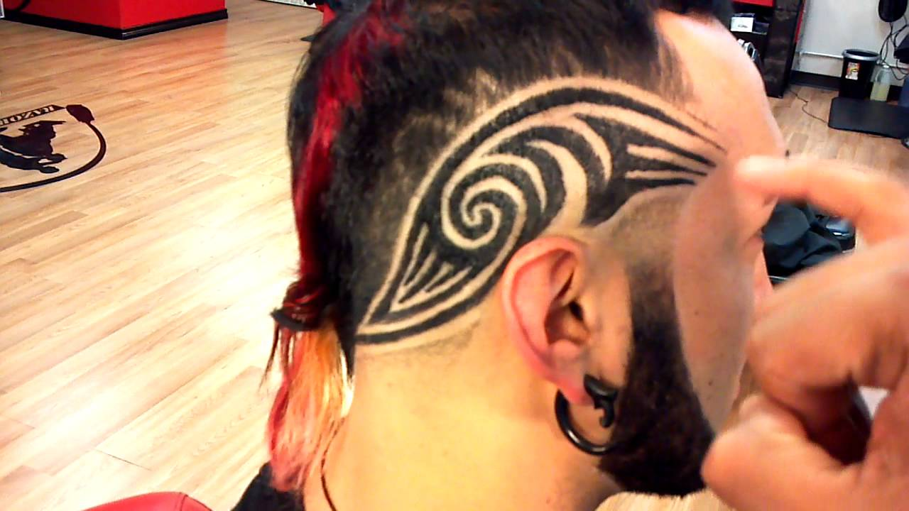 How to Hair Tribal Tattoo Fade  HD Tutorial !!! by