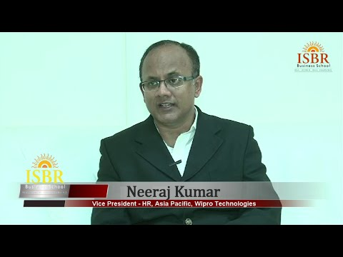 Mr.Neeraj Kumar, Vice President - HR, Asia Pacific, Wipro Technologies on ISBR Convocation Day 2015