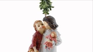 Under The Mistletoe Ornament W/ Kids
