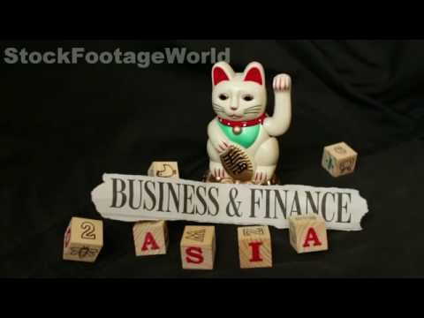 Lucky Waving Money Cat (maneki-neko): Asia Business & Finance Stock Footage