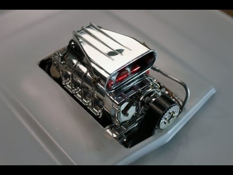 FG Dragster - Mounting the Diecast V8 and Cutting the Body