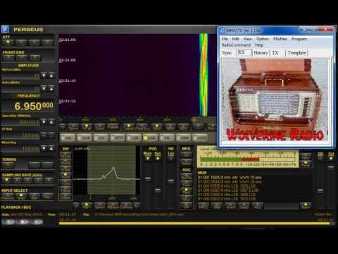 Pirate Radio Station - Wolverine Radio sign-off 6950 KHz SSTV on Perseus SDR