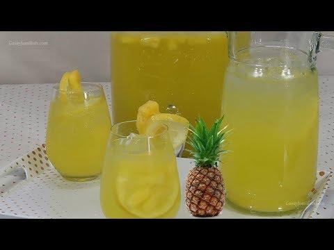 Limonada de Piña - Bebida Super Refrescante - Recetas en Casayfamiliatv
