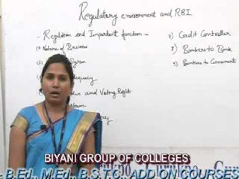 Regulatory Environment and RBI lecture by Divya Jangid