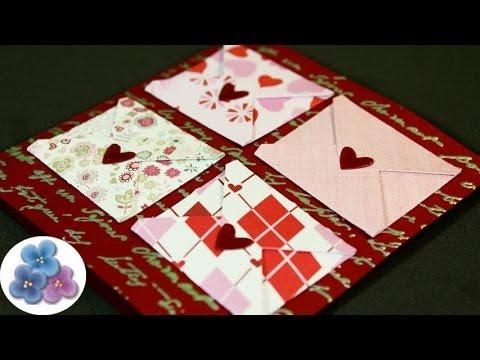 Como hacer tarjetas de amor para san valentin diy card - Como realizar tarjetas navidenas ...