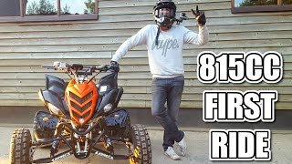 🐒 FIRST RIDE OF MY 815CC YAMAHA RAPTOR 700