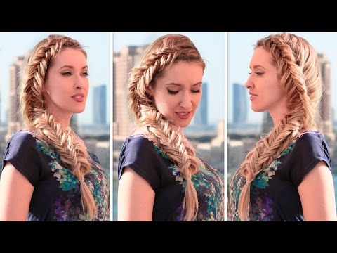 Frozen Elsa's inspired back to school hairstyles with fishtail braids
