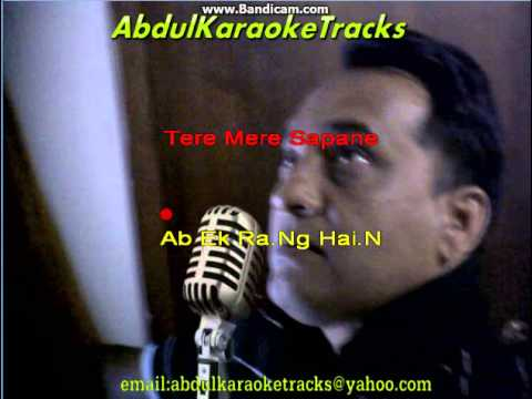 Tere Mere Sapne karaoke