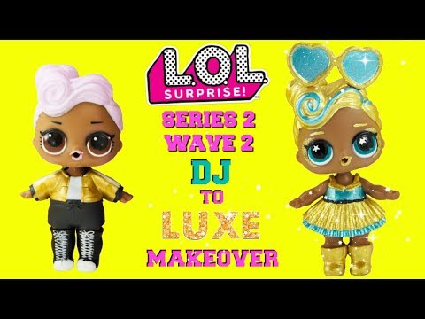 DIY DJ To LUXE MAKEOVER LOL Surprise Dolls SERIES 2 WAVE 2 24K Gold Club Ultra Rare Doll