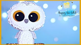 Snowy Owl Cake Topper tutorial | Owl cake