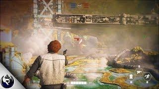 Star Wars Battlefront 2 - Hero Gameplay on Kessel (The Han Solo Season)