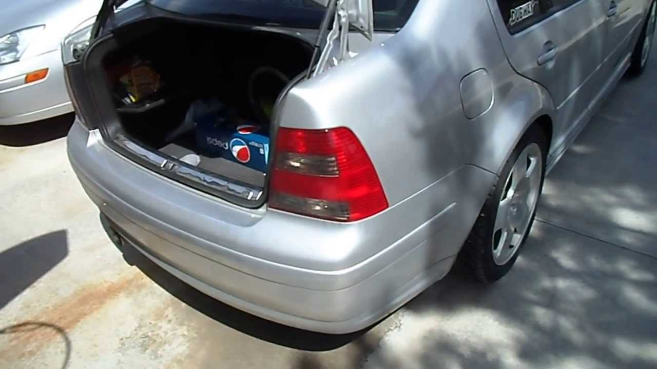 DIY: How to remove tail lights on an mk4 volkswagen jetta golf - YouTube