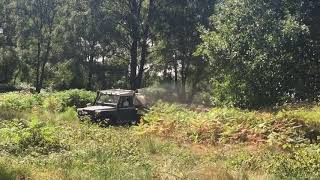 Bracken Spraying Using Modified Land Rover Defender Sprayer