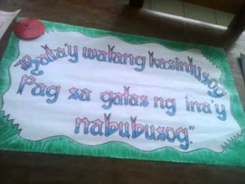 Nutrition Slogan Writing Contest-ballesteros District video