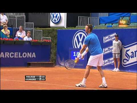 Xavier Malisse vs Juan Carlos Ferrero (ATP 500 Barcelona 2011) 2/12