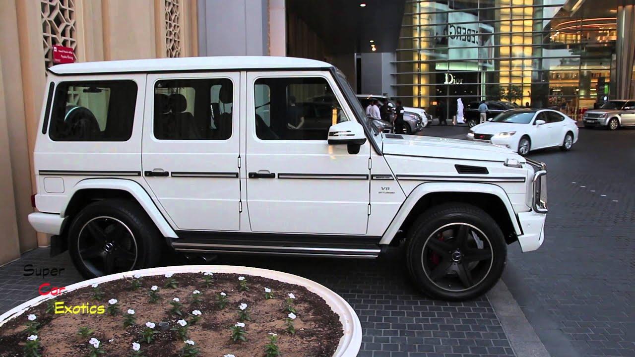 Mercedes G63 2018 >> G63 AMG V8 Biturbo Mercedes-Benz white @ Dubai Mall - YouTube