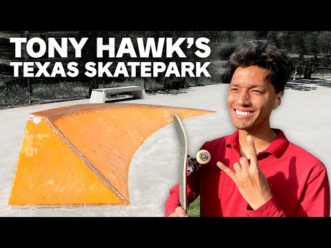 Tony Hawk Built a Tiny Skatepark in Texas