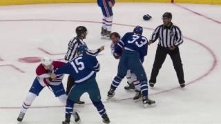 (Fight)  Bobby Farnham vs Frederik Gauthier / Michael McCarron vs Matt Martin