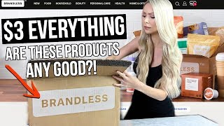 Trying $3 'Brandless' Household Products