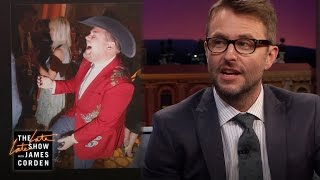 Cowboy Corden Recalls Chris Hardwick's Epic Wedding