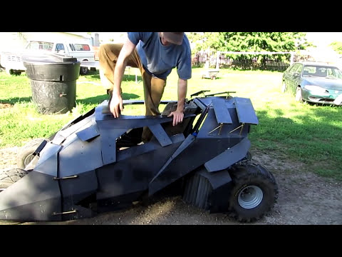 Batmobile go kart drive with new engine