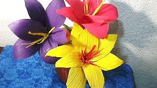 FLORES DE HOJAS DE MAÍZ. DIY How to make corn husk flowers