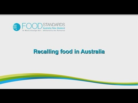 Recalling food in Australia