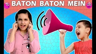 BATON BATON MEIN  SPEECH CHALLENGE Fun Aayu and Pihu Show