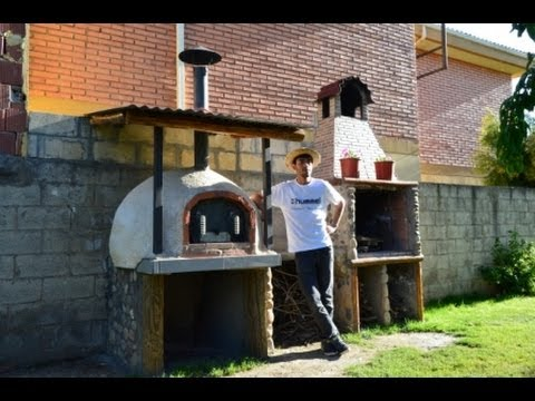 Construcci n horno de ladrillo y barro casero 100 wood - Construccion de chimeneas de ladrillo ...