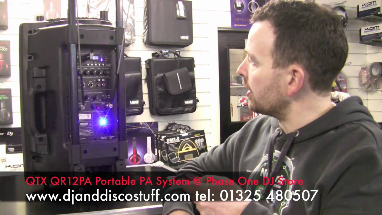 Portable Battery Powered Pa Speaker System By Qtx Youtube