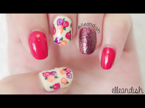 Easy Fall Floral Nails (No Nail Tools!)