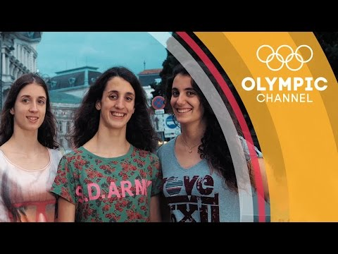 Alexandri Triplets Synchronise to Chase Swimming Dream in Austria | Flag and Family