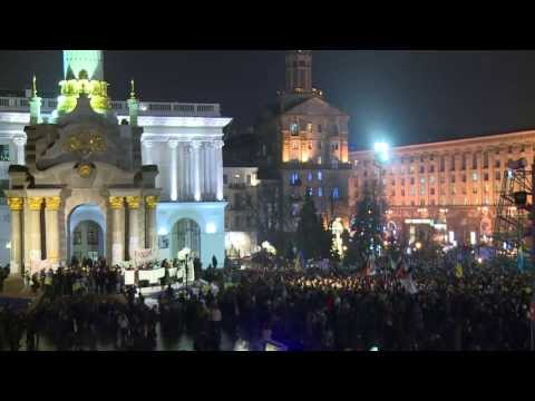 Ukraine: Kiev protesters demand Ukraine's membership to EU