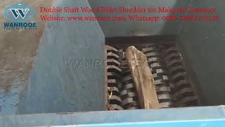 Wood Pallet Shredder, Wood Case Plank Board Sheet Recycling Plant Double Shaft Shredding Machine