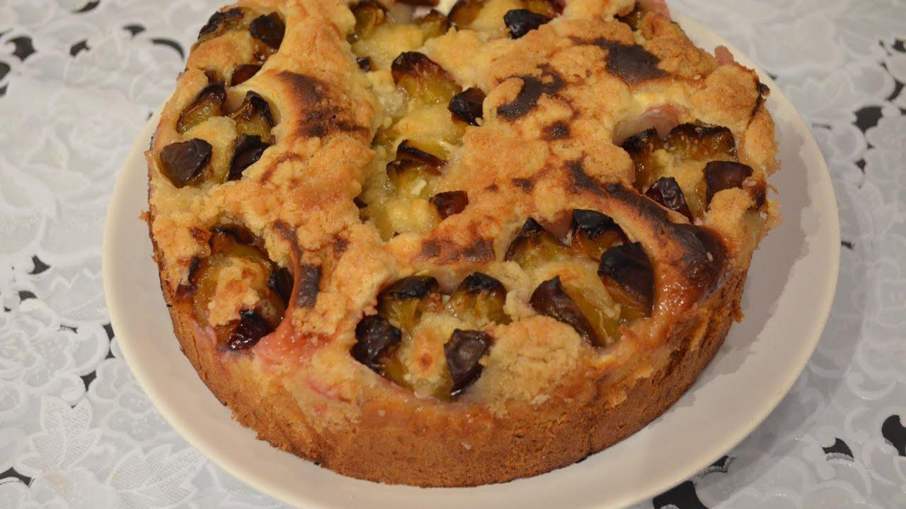 Заливной пирог со сливами рецепт