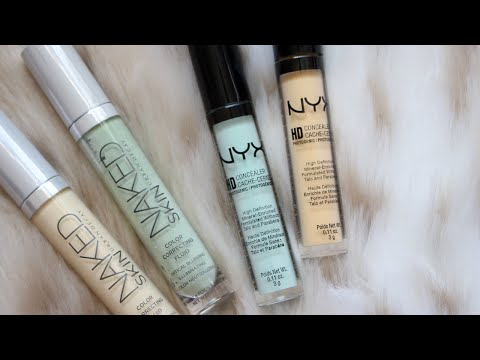 Frugal Fridayz   NYX HD Color Correctors ($5) vs. UD Correcting Fluid ($28)