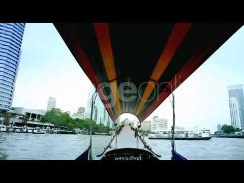 Boat tour in Bangkok footage 013919
