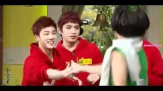 110416   BEAST   B2ST Yoseob kiss Kikwang !!! cut   100 Points Out Of 100 Oh My School 360p
