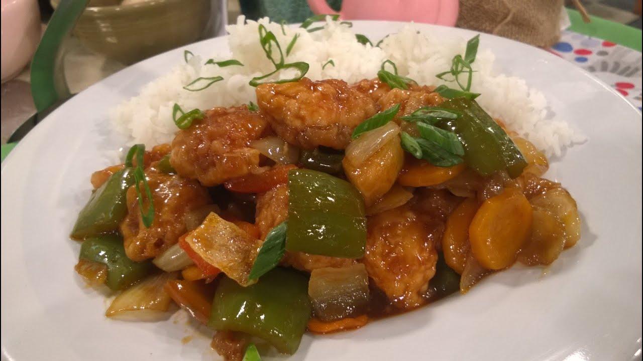 Salteado de pollo agridulce con arroz blanco recetas cocineros argentinos - Arroz salteado con pollo ...